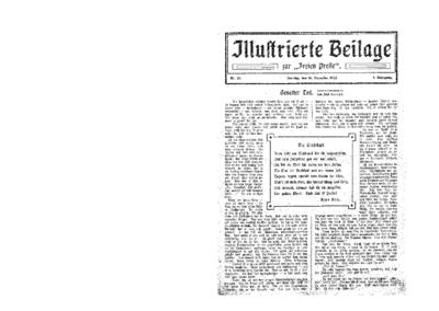 Illustrierte Beilage : zur Freien Presse. 1923-12-16 1. Jg nr 25