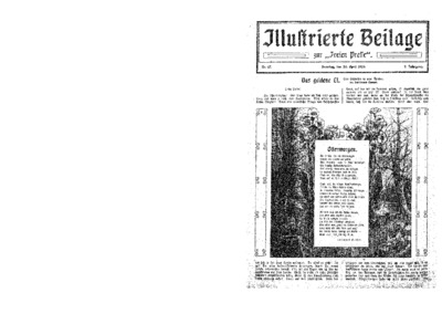 Illustrierte Beilage : zur Freien Presse. 1924-04-20 2. Jg nr 17