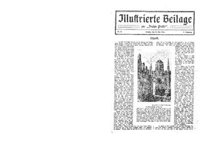 Illustrierte Beilage : zur Freien Presse. 1924-05-18 2. Jg nr 21