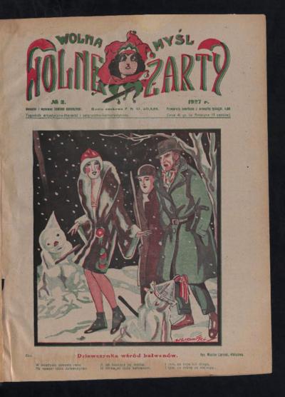 Wolna Myśl Wolne Żarty : tygodnik artystyczno-literacki i satyryczno-humorystyczny. 1927 [R. 9] no 2
