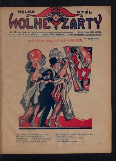 Wolna Myśl Wolne Żarty : tygodnik artystyczno-literacki i satyryczno-humorystyczny. 1927 R. 9 no 23