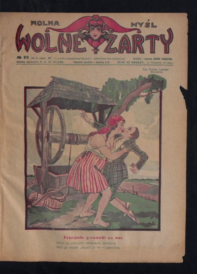 Wolna Myśl Wolne Żarty : tygodnik artystyczno-literacki i satyryczno-humorystyczny. 1927 R. 9 no 25