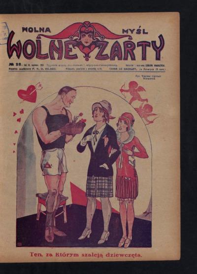 Wolna Myśl Wolne Żarty : tygodnik artystyczno-literacki i satyryczno-humorystyczny. 1927 R. 9 no 28