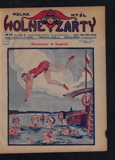 Wolna Myśl Wolne Żarty : tygodnik artystyczno-literacki i satyryczno-humorystyczny. 1927 R. 9 no 29