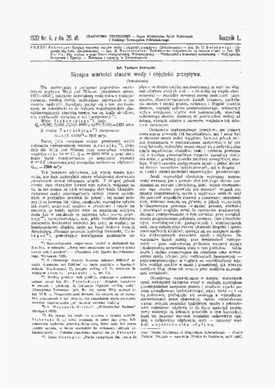 Czasopismo Techniczne 1932 nr 6