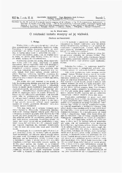 Czasopismo Techniczne 1932 nr 7