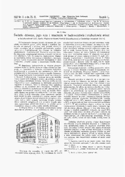 Czasopismo Techniczne 1932 nr 8