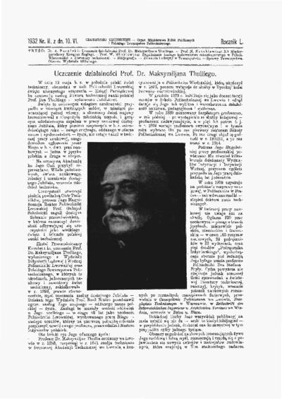 Czasopismo Techniczne 1932 nr 11