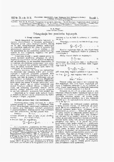 Czasopismo Techniczne 1932 nr 21