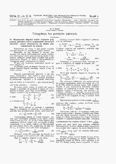 Czasopismo Techniczne 1932 nr 22