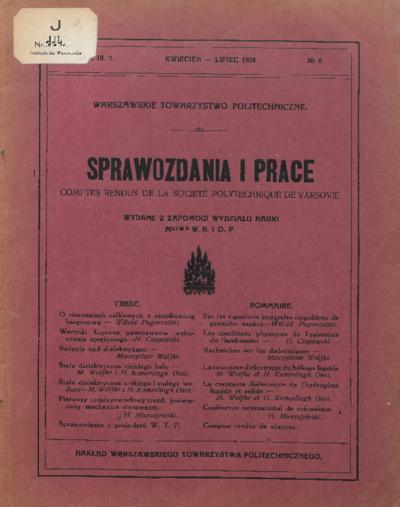 Sprawozdania i Prace 1924 z. 8