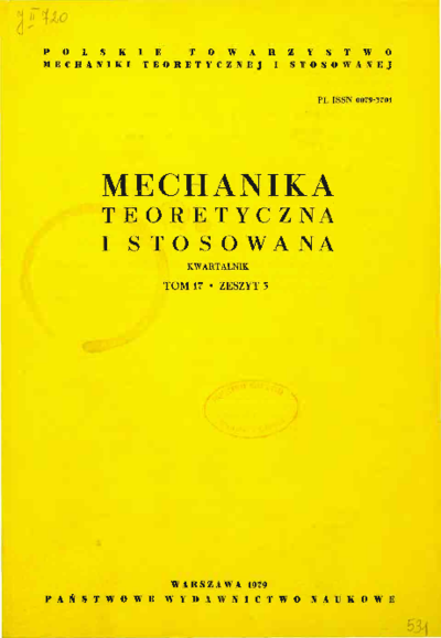 Mechanika Teoretyczna i Stosowana 1979 z. 3
