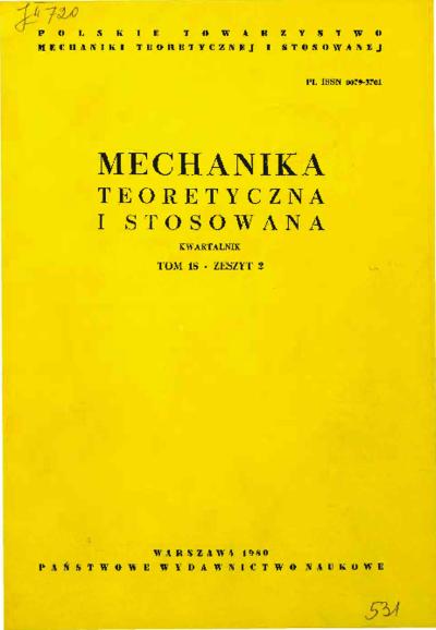Mechanika Teoretyczna i Stosowana 1980 z. 2