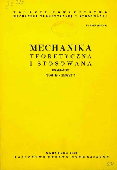 Mechanika Teoretyczna i Stosowana 1980 z. 3