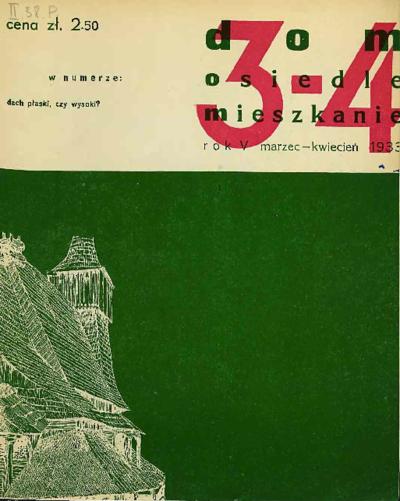 Dom, Osiedle, Mieszkanie 1933 marzec - kwiecień