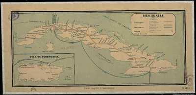 Isla de Cuba [Material cartográfico]:][Líneas telegráficas]