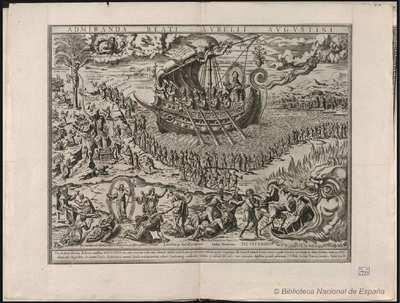 [San Agustín y la barca de la Iglesia] [Material gráfico]