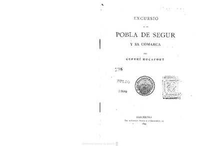 Excursió a la Pobla de Segur y sa comarca [Texto impreso]