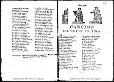 Cancion del segador de Lorca [Texto impreso]