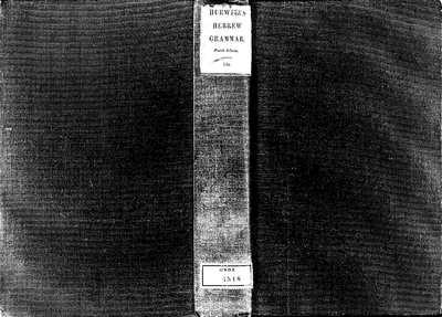 A grammar of the Hebrew language [Texto impreso]