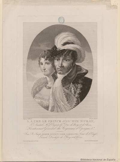 [Retrato de Joaquín Murat y Caroline Bonaparte]