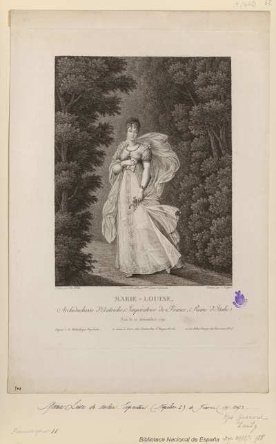 MARIE-LOUISE Archiduchesse d'Autriche, Impératrice de France, Reine d'Italie