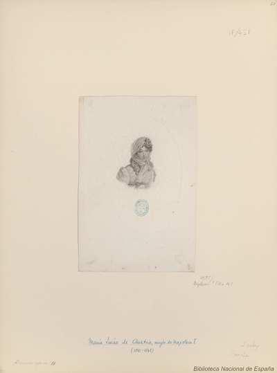 [Retrato de Marie Louise Archiduchesse d'Autriche]