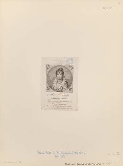 Marie Louise Archiduchesse d'Autriche, Impératrice des Francais, Reine d'Italie Née le 12 Décembre, 1791