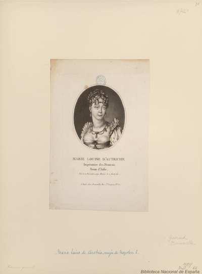 MARIE LOUISE D'AUTRICHE Impératrice des Français, Reine d'Italie