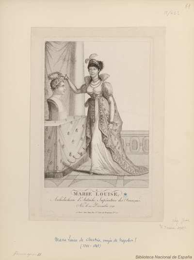 MARIE LOUISE, Archiduchesse d'Autriche, Impératrice des Français