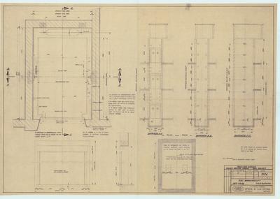 Technische tekening. Electrische brancardlift