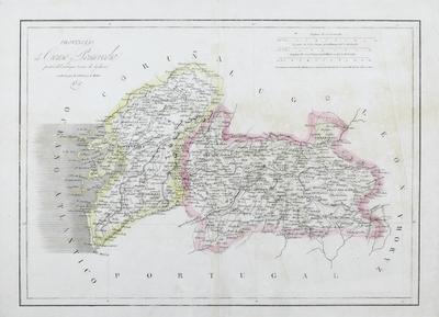 Provincias de Orense y Pontevedra [Material cartográfico]: partes del antiguo reino de Galicia