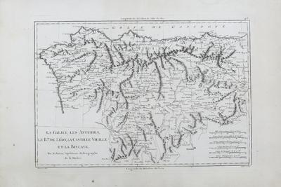 La Galice, les Asturies, le Rme. de Léon, la Castille Vieille et la Biscaye [Material cartográfico]