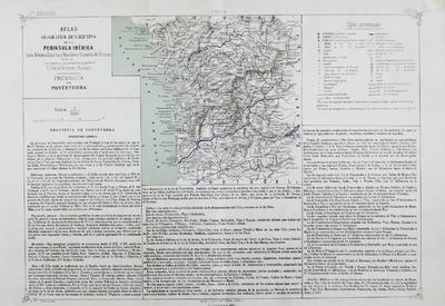 Provincia de Pontevedra [Material cartográfico] : Atlas geográfico descriptivo de la Peninsula Ibérica...