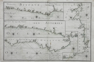 [Carte des costes septentrionales d'Spagne depuis de Fontarabie jusqu'a Bayonne en Gallice] [Material cartográfico]
