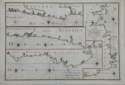 Carte des costes septentrionales d'Spagne depuis de Fontarabie jusqu'a Bayonne en Gallice [Material cartográfico]