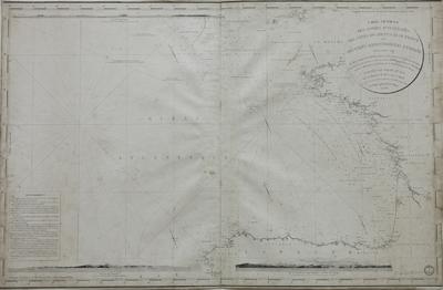Carte générale des sondes d´attérages des côtes occidentales de France et des côtes septentrionales d´Espagne faites, en 1828 et 1829 [Material cartográfico]