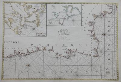 Carte des costes de Portugal et de Partie d´Espagne depuis le Cap de Finisterre Jusques au dêtroit de Gibraltar [Material cartográfico]