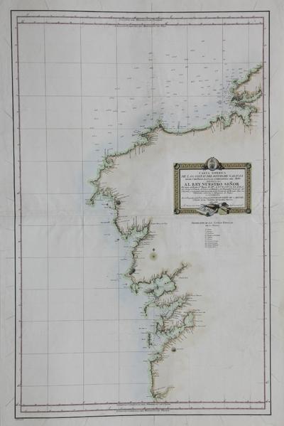 Carta esferica de las costas del Reyno de Galicia desde Cabo Prior, hasta la embocadura del Miño [Material cartográfico]