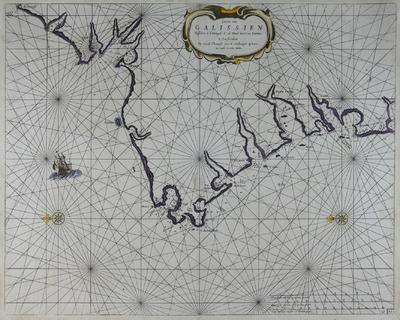 Caerte van Galissien Tusschen C. d. Ortegal, C. de Finis terre en Camina [Material cartográfico]