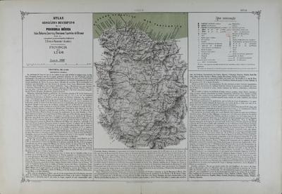 Provincia de Lugo [Material cartográfico] ]: Atlas geográfico descriptivo de la Peninsula Ibérica, Islas Baleares, Canarias y Posesiones Españolas de Ultramar