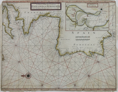 A Chart of the Sea Coast from England to the Streights [Material cartográfico]