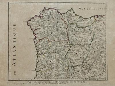 Partie Septentrionale du Royaume de Portugal [Material cartográfico] ]: Les Royaumes de Leon et de Galice, Les Asturies, Partie des deux Castilles ...