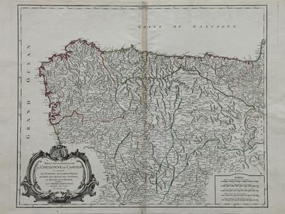 Partie Septentrionale de la Couronne de Castille [Material cartográfico]: où se trouvent les Royaumes de Castille Vieille, de Leon, de Gallice, des Asturies, la Biscaye et la Navarre, en Partie