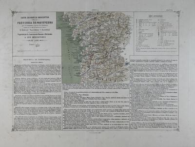 Carta geográfica descriptiva de la Provincia de Pontevedra [Material cartográfico] ]