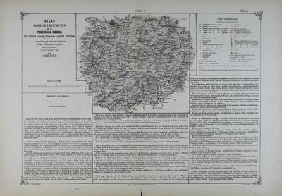 Provincia de Orense : Atlas geográfico descriptivo de la Peninsula Ibérica ... [Material cartográfico]