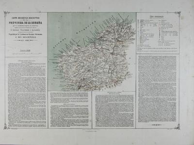 Carta geográfica descriptiva de la Provincia de La Coruña [Material cartográfico]