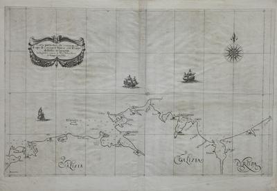 Carta particolare che comincia con il capo di Coriano è Finisce con il capo di Aviles in Ispagnia [Material cartográfico]