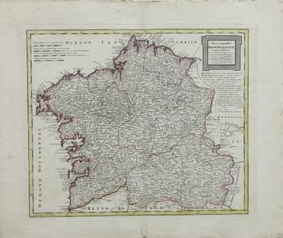 Charta geographica regnum Galaeciam (hispanice Galicia) : in suas provincias divisum [material cartográfico]