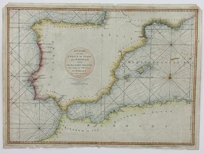 A Chart of the Coasts of Spain and Portugal ... [Material cartográfico] ]
